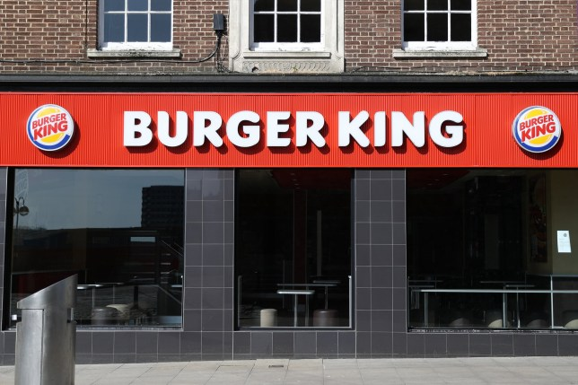 A Burger King restaurant is seen closed due to the current coronavirus (COVID-19) pandemic