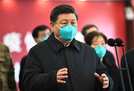 PHOTO DU PRÉSIDENT CHINOIS XI JINPING IN MASK