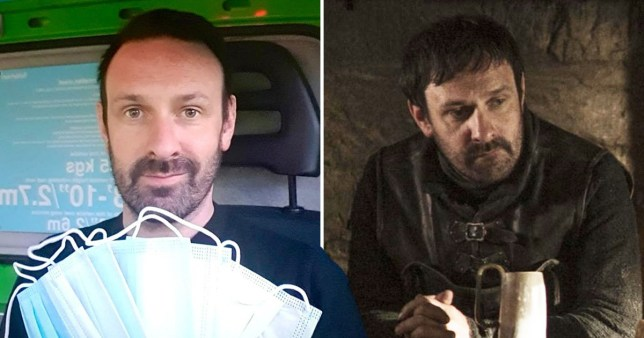 Game Of Thrones star gets a job at Asda to lend hand during coronavirus pandemic (Picture: HBO, @BelfastMikey)