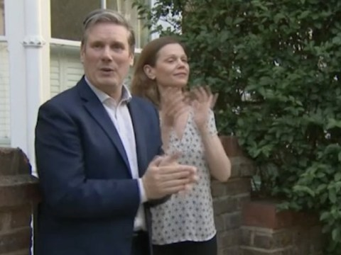 Keir Starmer joins his family in the street to clap for carers