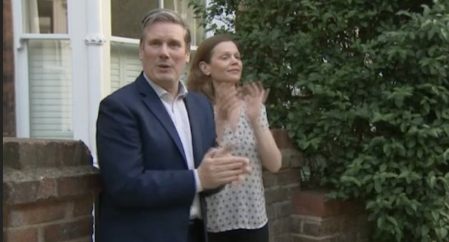 Sir Keir Starmer asks cameraman: 'have you got what you need?' CREDIT: AP