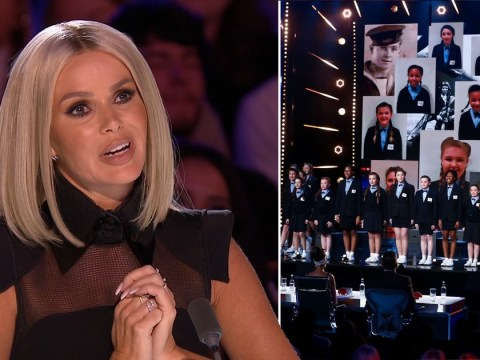 Britain's Got Talent's Amanda Holden left sobbing after choir perform wartime song thanking army veterans for 'saving' them