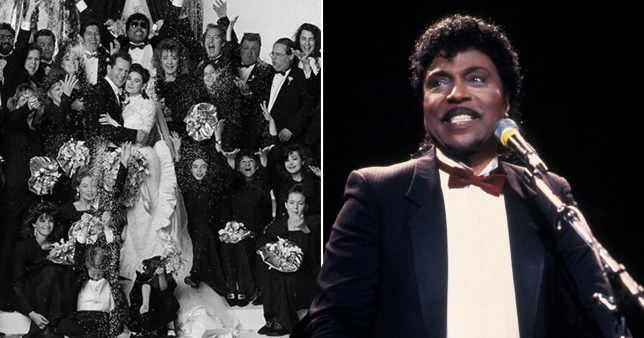 Demi Moore and Little Richard