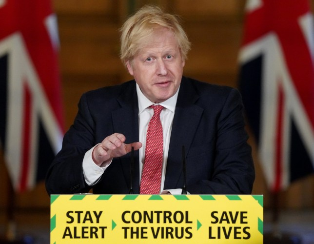 Boris Johnson at the Downing Street press conference