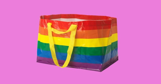 Ikea rainbow bag for Pride