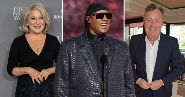 Bette Midler and Piers Morgan wishe Stevie Wonder happy birthday