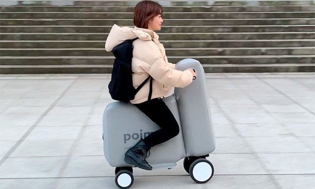 Japanese company unveils INFLATABLE e-bike that weighs 12 pounds and can folded so it fits inside a backpack