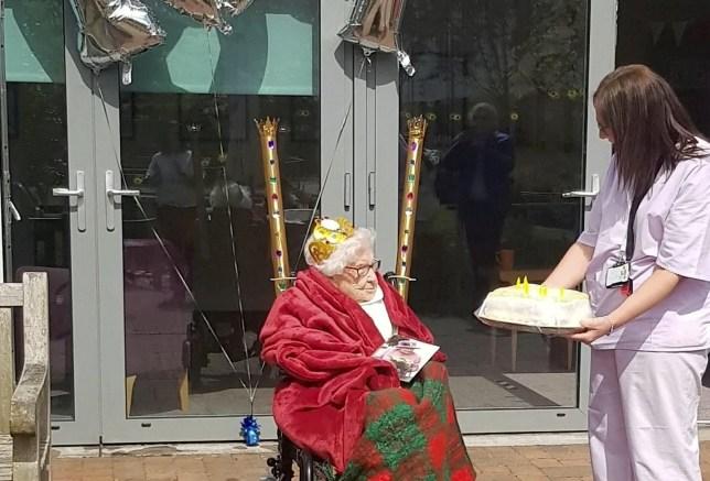 Ellen Gardner celebrating her 107th birthday.