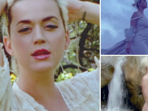 Katy Perry strips off in a waterfall and reveals her beautiful baby bump in dreamy new music video for Daisies