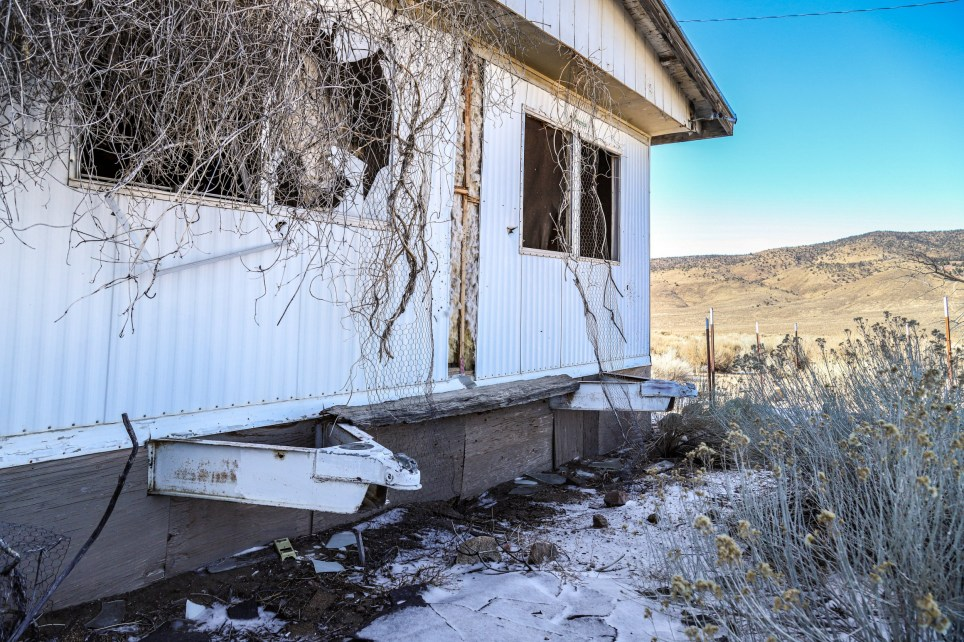 The abandoned brothel in Nevada.