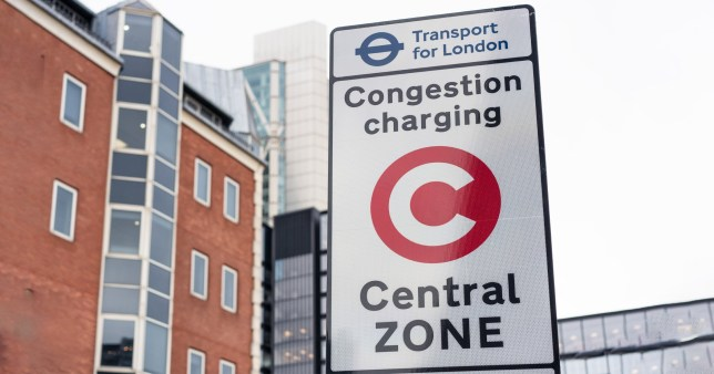 Congestion charging zone sign