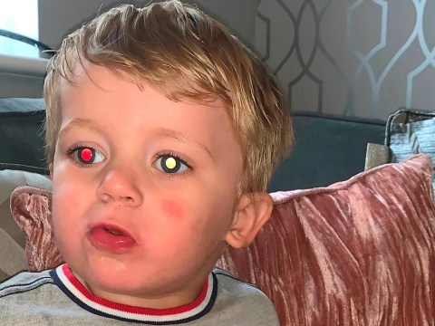 Mum discovers son's discoloured eye in photographs was a sign of a rare and aggressive cancer