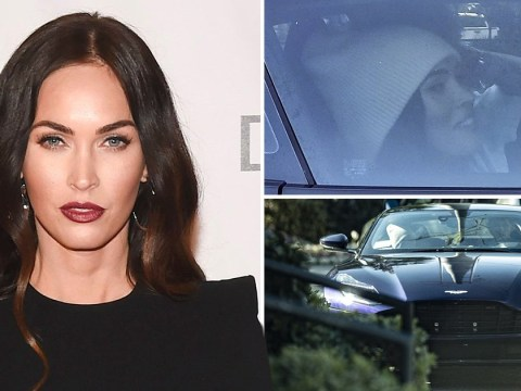 Megan Fox goes for a drive with co-star Machine Gun Kelly during self-isolation break