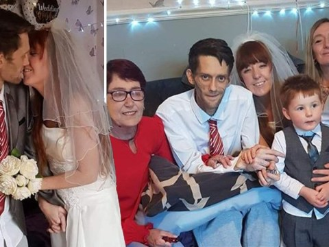 Dad with terminal cancer dies two days after lockdown living room wedding