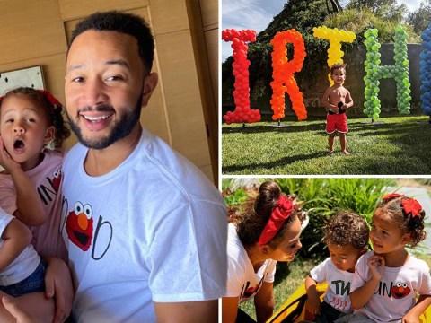 Inside Chrissy Teigen's epic Sesame Street themed birthday party for son Miles as he turns two in lockdown