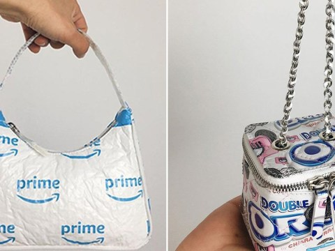 Two Italian designers are making handbags from food packaging and Amazon parcels