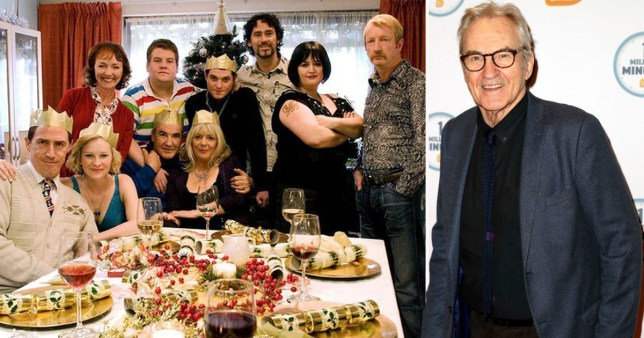 Larry Lamb and the cast of Gavin and Stacey