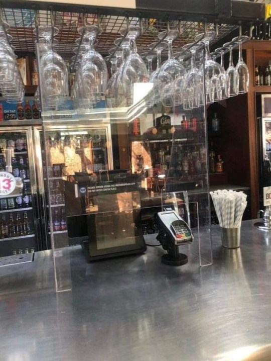 What Wetherspoons will look like with protective glass screens when pubs reopen