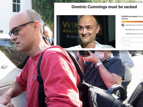 Over 500,000 people sign petition for Dominic Cummings to be sacked