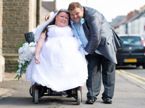 Husband says goodbye to 'kind and beautiful' paraplegic wife paralysed in childhood accident