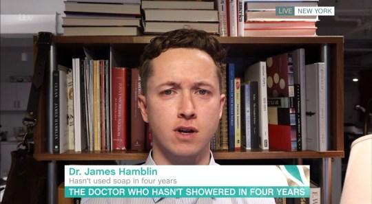 Mandatory Credit: Photo by ITV/REX (10657744q) Dr James Hamblin 'This Morning' TV show, London, UK - 25 May 2020