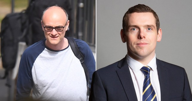 Senior aide to the Prime Minister Dominic Cummings and Conservative MP Douglas Ross, who has resigned as Under Secretary of State for Scotland