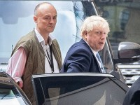 Mandatory Credit: Photo by Peter MacDiarmid/REX (10406036i) Prime Minister Boris Johnson arrives at Parliament with his special advisor Dominic Cummings (L). Politicians in London, UK - 09 Sep 2019 The government have announced that Parliament will be prorogued at the end of business today.