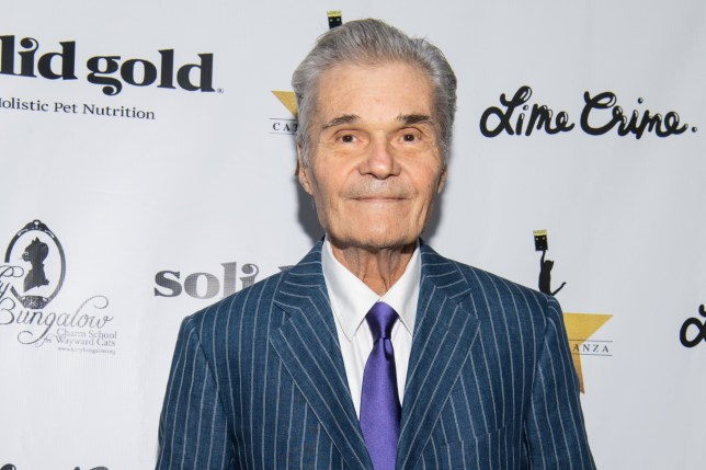 Fred Willard on the red carpet