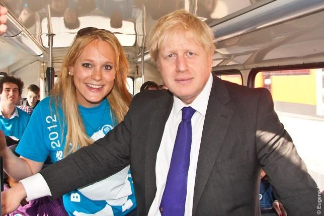Jennifer Arcuri pictured with Boris Johnson in 2012