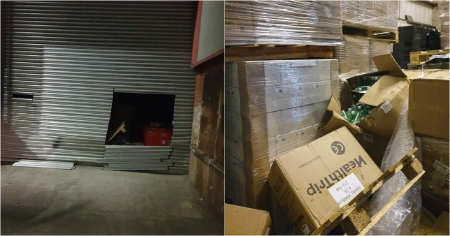 Thieves steal £166,000 of PPE meant for frontline NHS workers in warehouse raid at Trafford Business Park, Salford
