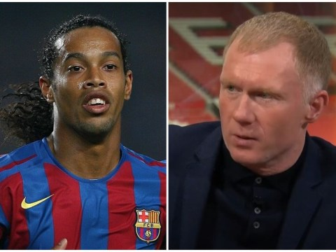 Paul Scholes reveals Manchester United squad were excited by potential Ronaldinho transfer