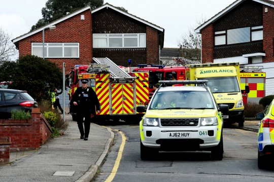 Emergency services at the scene in Boyce Green Road, Benfleet following the attack. A grandmother was unlawfully killed after being set on fire by her former son-in-law, a jury ruled. See SWNS story SWCAgrandmother. Kieren Lynch, 50, stormed in to Jennifer Cronin???s garden in Boyce Green, Benfleet, with a jerry can full of petrol and doused himself and the 72-year-old before setting them both alight. The jury found there had been multiple failings by Essex Police in the lead up to the horrific incident, as opportunities to intervene in Kieren???s increasingly violent behaviour were missed. The jury also found Kieren, of Tewkes Road, Canvey committed suicide. Speaking after the five-day inquest, Mrs Cronin???s daughter and Kieren???s ex-wife Susan Lynch said the jury???s verdict was satisfying.