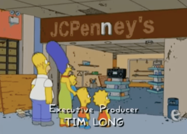 The Simpsons scene at JCPenney's.