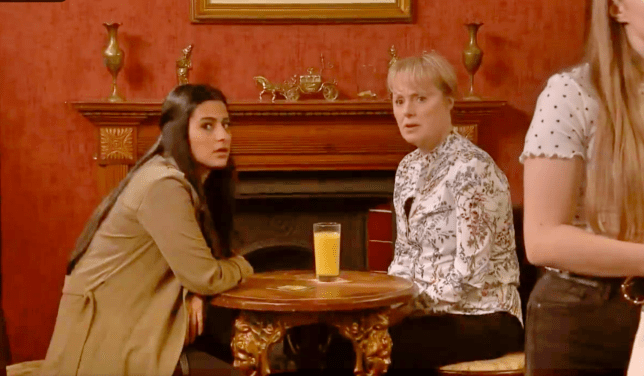 Sally and Alya in Coronation Street