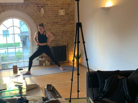 Where I Work: Fi Clark, a yoga instructor teaching classes on Instagram in lockdown