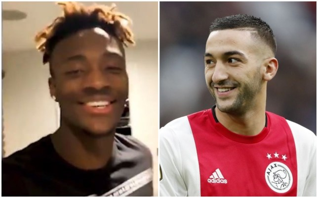 Tammy Abraham has told Hakim Ziyech he 'can't wait' to link up with him at Chelsea