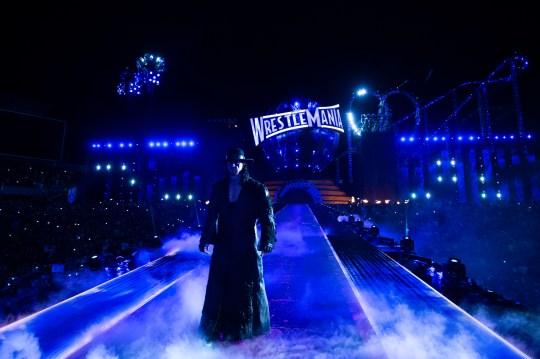 WWE legend The Undertaker at WrestleMania 33