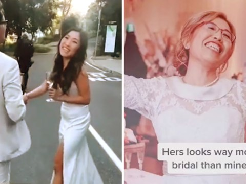 Bride finds out mum is wearing a white dress too on morning of wedding