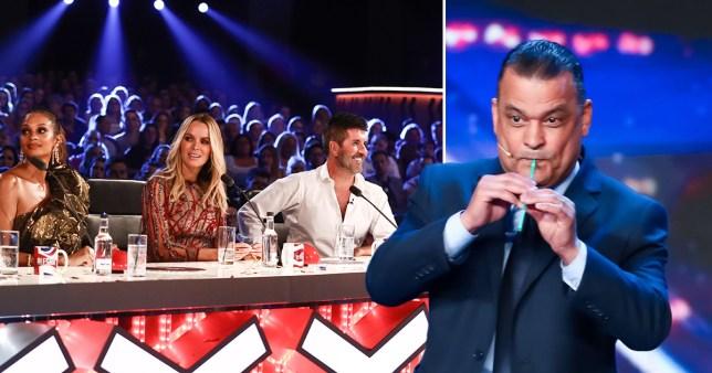 Britain's Got Talent straw player