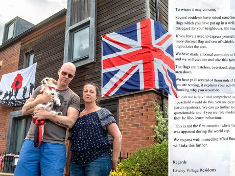 Neighbours write note to couple to say their VE Day flags are 'disgusting'