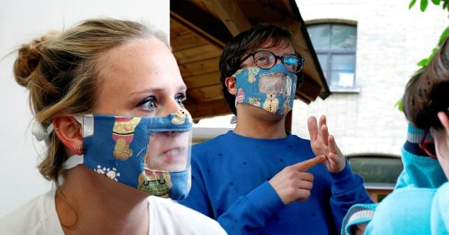 Transparent masks for deaf people