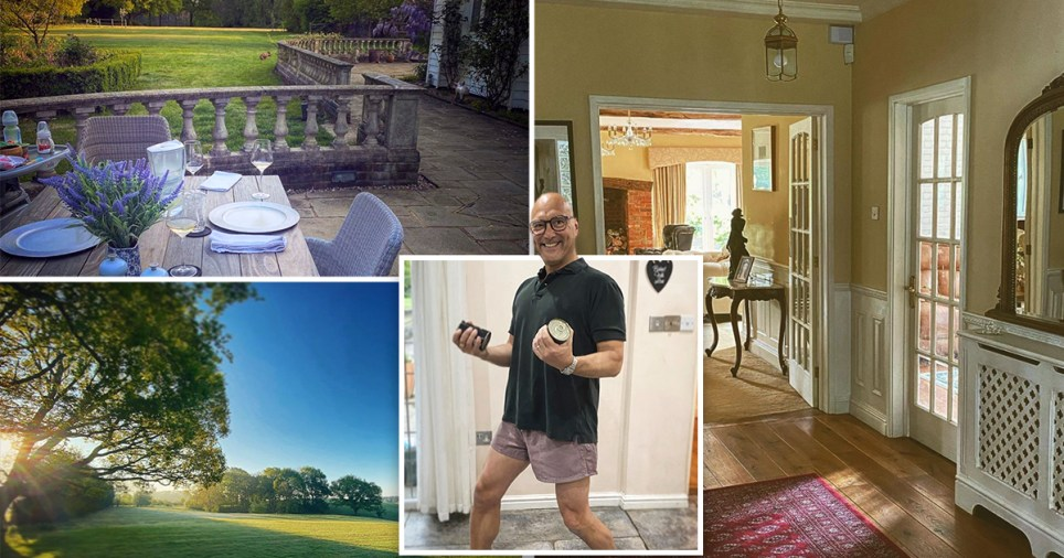 Inside Gregg Wallace's home: Pictured the garden, outdoor patio, hallway and Gregg
