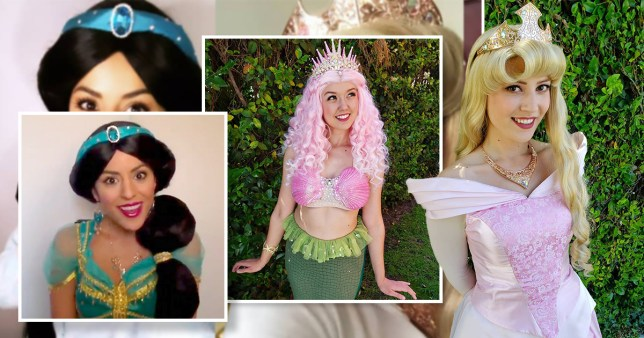 different Disney princesses