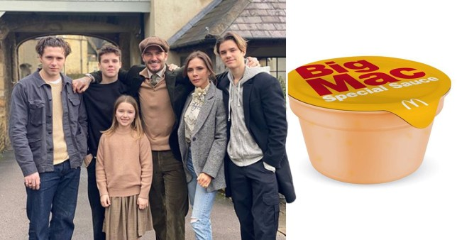 Beckham family and Big Mac special sauce