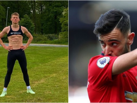 Bruno Fernandes reacts to photo of Manchester United star Scott McTominay looking ripped