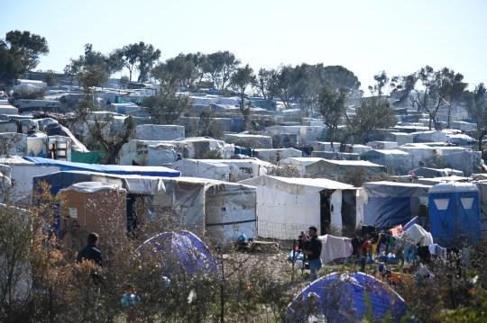 Le camp de réfugiés de Moria à Lesbos, Grèce