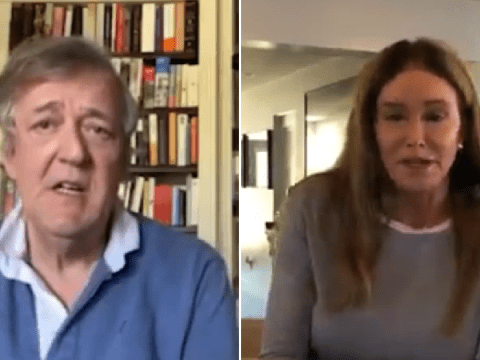 Caitlyn Jenner and Stephen Fry encourage LGBT+ youth struggling in lockdown to 'stay positive'