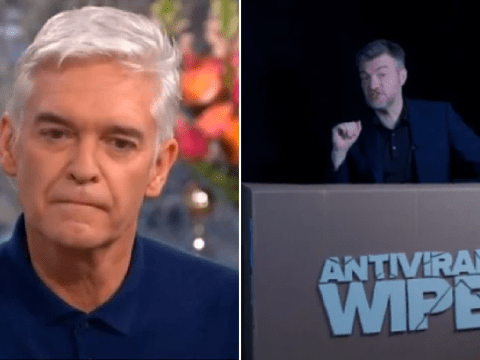 Charlie Brooker parodies Phillip Schofield's coming out moment in Antiviral Wipe