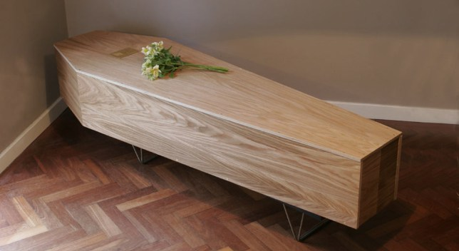Wooden coffin