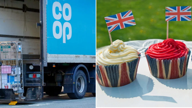 Co-Op lorry and Union Jack cupcakes